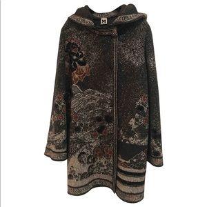 Missoni Jackets & Coats - M Missoni lurex jacquard wool coat cardigan xs s